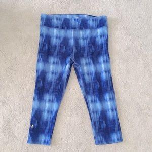 Under Armour Blue Tie Dye Crops